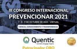 Quentic se convierte en patrocinador ORO del Congreso Internacional Prevencionar 2021