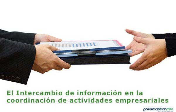El Intercambio de información en la coordinación de actividades empresariales