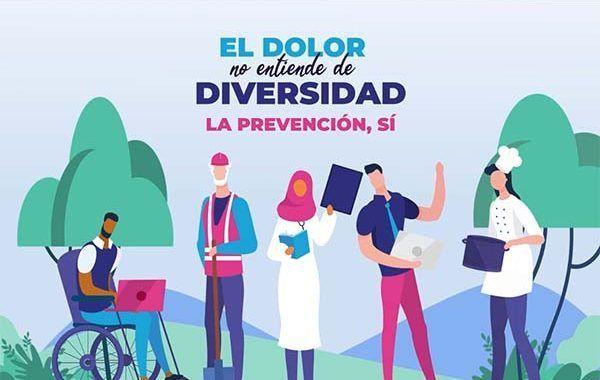 Nueva campaña de Osalan: El dolor no entiende de diversidad. La prevención sí.
